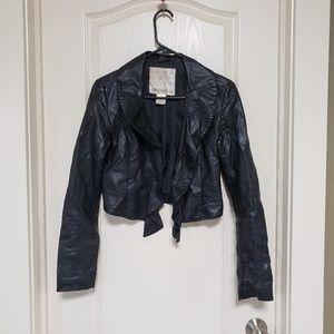 Arden b vegan leather jacket zip up